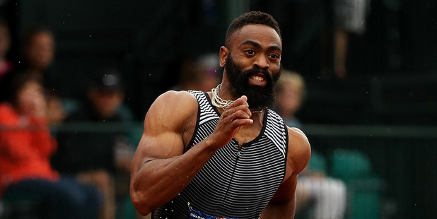 Tyson Gay competes at the 2016 U.S. Olympic Track & Field Team Trials. Photo / Getty Images