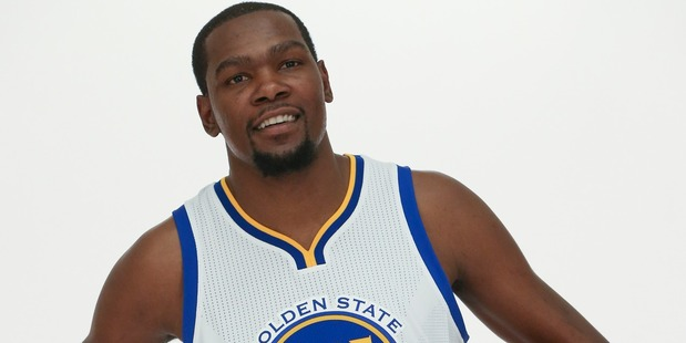Kevin Durant of the Golden State Warriors poses for a portrait on July 7. Photo / Getty Images