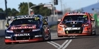 Shane Van Gisbergen leads James Courtney at the Townsville 400. Photo / Getty Images