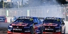 Jamie Whincup leads Shane Van Gisbergen during the Townsville 400. Photo / Getty Images