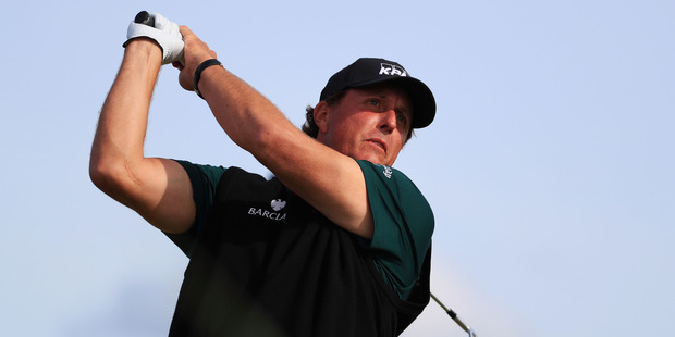 Phil Mickelson during the first round of the 145th Open Championship. Photo / Getty Images