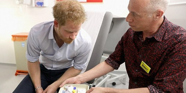 Prince Harry gets an HIV test. Photo / Getty Images