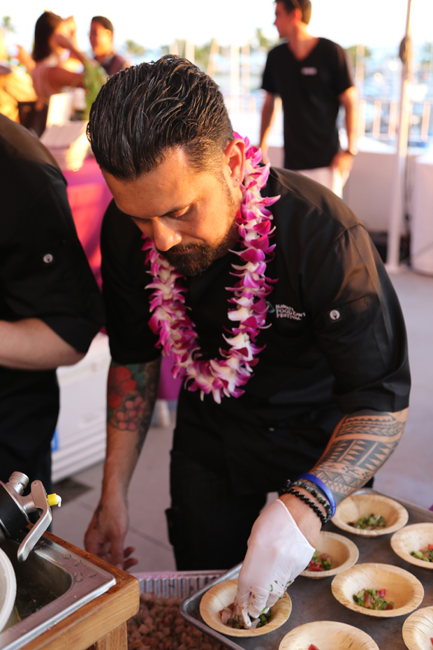 Acclaimed New Zealand chef, Michael Meredith, at the Hawaii Food and Wine Festival. Photo /  Paul Davies