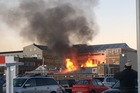 The fire broke around 5pm this afternoon. Photo / Supplied