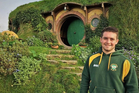 Joe Sandford on a recent trip to Hobbiton. Photo/Supplied