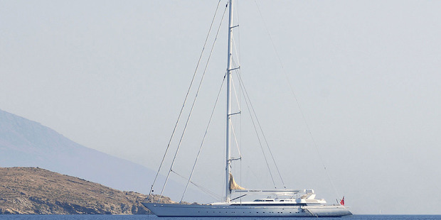 M5 - sailing in the Greek Islands under its previous name Mirabella V in 2009. Photo / ArnoWinter / Creative Commons