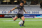 Massey halfback Miracle Naititi slotted seven conversions from eight on Friday night in the 54-5 win over Takapuna Grammar at Eden Park. Photo / Jack Hall.