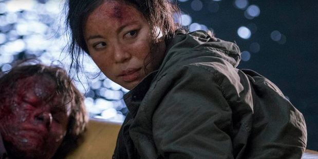 Michelle Ang in a scene from Fear the Walking Dead. The Kiwi actress has scored an Emmy nomination.