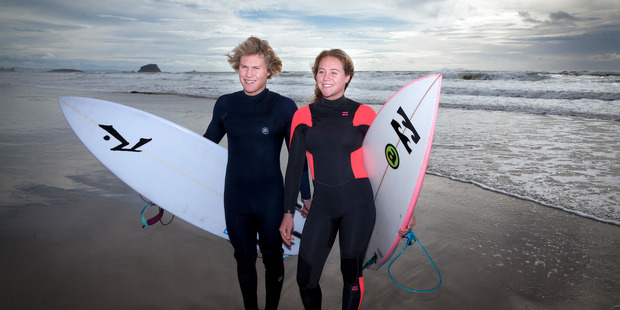 Jonas (left) and Elin Tawharu need community support to be able to compete for New Zealand at Portugal in September. Photo/Andrew Warner