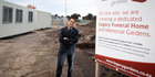 Legacy Funerals director Mike Savage at the site of a new funeral home in Papamoa. PHOTO/ANDREW WARNER