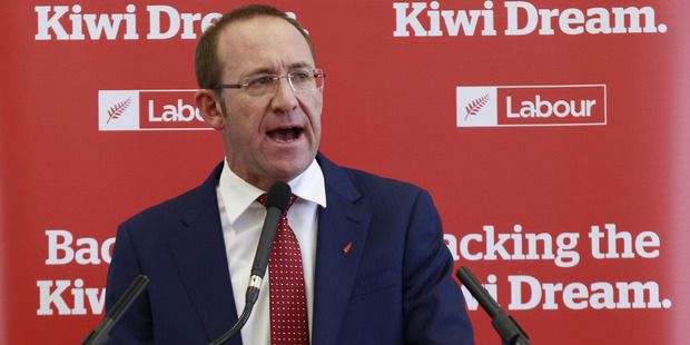 Loading Labour leader Andrew Little announces policies to attack Aucklands housing crisis at New Lynn Community hall. Photo / Nick Reed