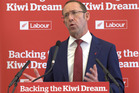 Labour leader Andrew Little announces policies to attack Auckland's housing crisis at New Lynn Community Hall. Photo / Nick Reed