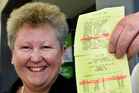 THRILLED: Mount Maunganui Paper Plus manager Jane Debenham says the local winner of Lotto's second division was