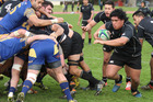 Carlin Tata makes a break for Rangataua Sports in their win over Tauranga Sports. Photo / Drops Photography