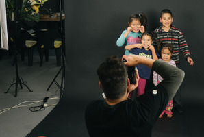Castlecliff photoshoot 'blesses' local families