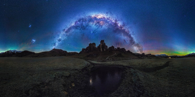 The Milky Way forms a perfect arch in the night sky. Photo / Caters