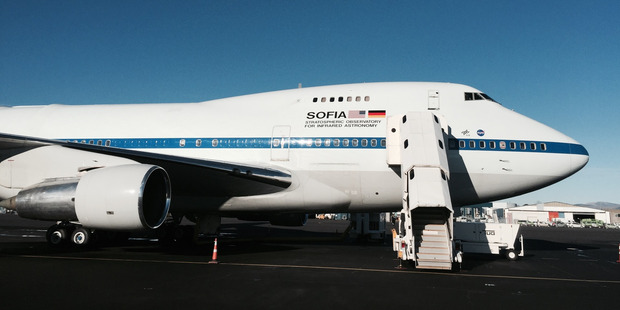 Loading Stratospheric Observatory for Infrared Astronomy or SOFIA is the World's largest flying observatory on board a Boeing 747 operated by NASA.