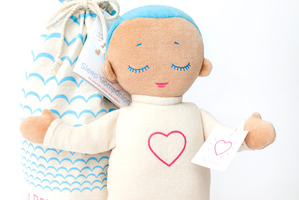 The Lulla doll is a sleep companion for preemies, babies and toddlers.