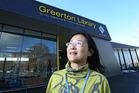 Shelley Wu, Greerton Library supervisor, outside the new library. Photo/John Borren