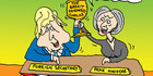 View: Cartoon: May and Johnson - Let's toast