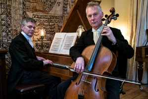 Douglas Mews (left) and Robert Ibell will be playing at St Matthew's Church, Hastings on Friday.