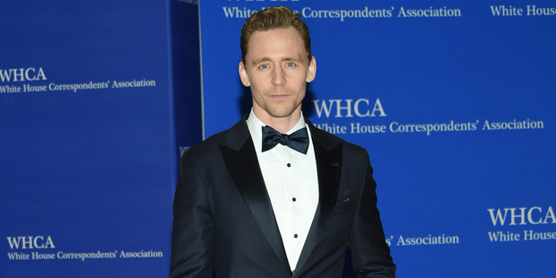 "Time to get ""NZ Hearts Tom Hiddleston"" t-shirts made? Photo / AP"