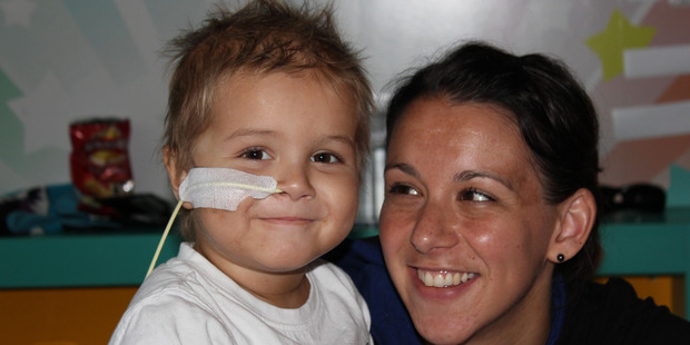 Chace Topperwien from Hamilton, pictured with his mother Keri, died in 2012. Photo / Supplied