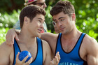 Adam Devine and Zac Efron appear in a scene from the filmMike and Dave Need Wedding Dates. Photo / AP