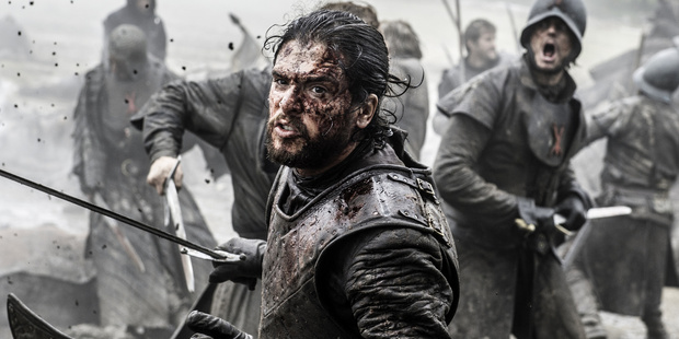 Kit Harington portrays Jon Snow in a scene from Game of Thrones. Photo / HBO