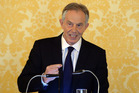 Tony Blair holds a press conference at Admiralty House, London, after retired civil servant John Chilcot presented The Iraq Inquiry Report. Photo / AP