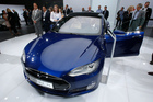 A Tesla Model S is on display at the  Frankfurt Auto Show IAA in Frankfurt, Germany. Consumer Reports magazine is calling on car maker to drop the word 'autopilot'. Photo / AP