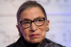 Political and legal commentators in the United States are baying for the blood of US Supreme Court judge Ruth Bader Ginsburg following her joke about moving to New Zealand.   Photo / AP