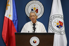 Philippine Foreign Affairs Secretary Perfecto Yasay Jr. issues a statement on the recent ruling in a long-running dispute between the Philippines and China over the South China Sea. Photo / AP