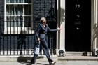 Britain's Home Secretary Theresa May leaves 10 Downing Street after attending a cabinet meeting. Photo / AP