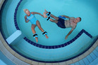 Penny Lucas and Wayne Mason enjoy exercising in the warm water at Mount Maunganui Hot Pools, which will close for three days this month. Photo/file