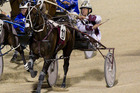Christen Me faces an enormous task in the Blacks A Fake at Albion Park in Brisbane Photo / Dean Purcell