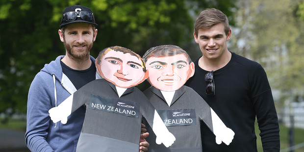 Black Caps players Tom Latham (right) and Kane Williamson. Photo / Alan Gibson
