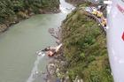 The scene of the Manawatu George crash. Photo / Supplied