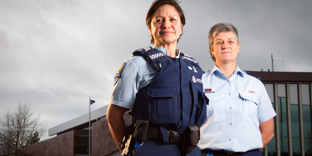 Sergeant Pauline Jones (left) and Senior Sergeant Nicky Riordan. Photo/Stephen Parker
