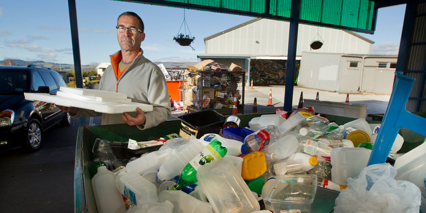 Regular recycler Jean-Pierre Paalvast doesn't know what to do with his polystyrene. PHOTO/FILE