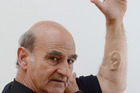 Artist Stelarc has an artifical ear inserted in his arm. It will be electronically augmented to become internet enabled. Photo / Otago Daily Times