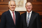 John Key will discuss an opportunity with Malcom Turnbull for New Zealand and Australia to make a joint response to Britain leaving the European Union. Photo / Getty Images