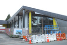 How the construction of the Greerton Library looked in March. The completed library's official opening will be held tomorrow morning. Photo/File
