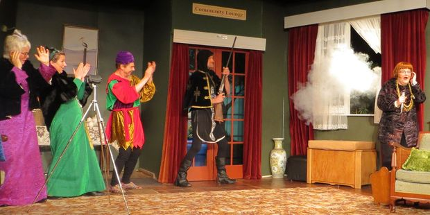 A scene from The Old People Are Revolting, playing at St Aubyn St, Hastings until July 23.
