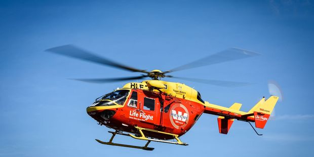 The Westpac Rescue Helicopter flew the man to hospital. Photo / File