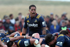 Aaron Smith of the Highlanders yells at his team-mates during a Super Rugby match. Photo / Getty Images.