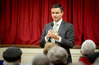 Green Party co-leader James Shaw spoke to Hawke's Bay residents last night about his vision for New Zealand's economy. Photo / Warren Buckland