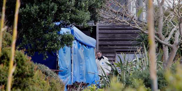 Loading A specialist clan lab team and scientists from ESR were examining a Tutukaka Coast house after the discovery of a drug laboratory. Photo / John Stone