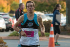 Local runner Michael Voss competing in the Wellington half marathon. Photo / Michael Dawson Photography