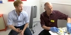 Watch: Watch: Prince Harry gets an HIV test